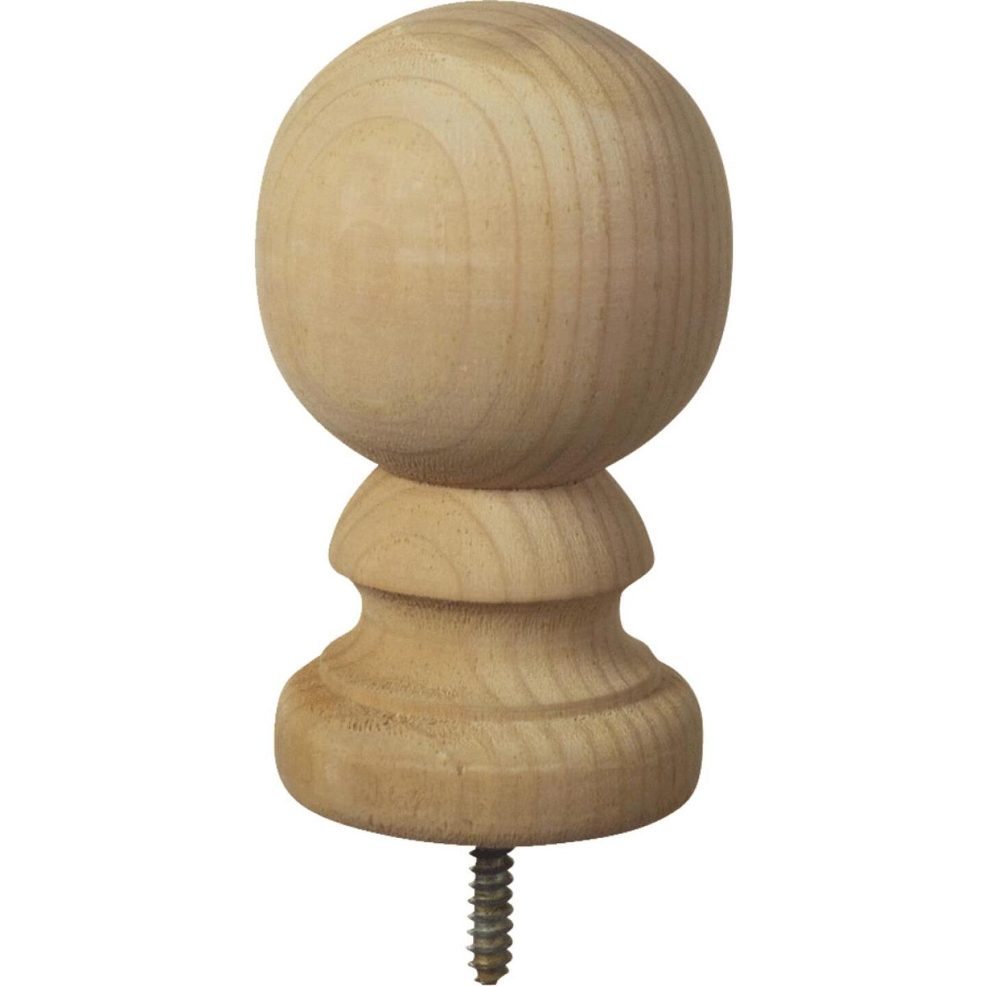 ProWood 3-9/16 In. x 5-3/8 In. Treated Wood Ball Top Natural Post Cap Image 1